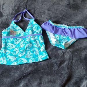 Blue/purple mermaid 2pc swimsuit